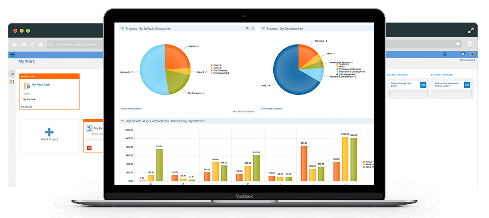Project Insight Software - Reports & Dashboards