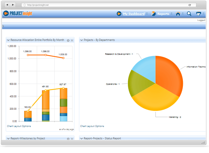 Graphical Reports On Executive Dashboard